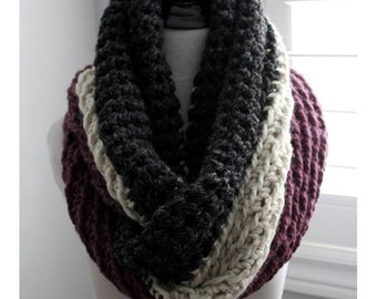 Chunky knit infinity scarf, Chunky Knit Oversized Huge Textured Winter Cowl Scarf Chunky knit scarf, knit scarf, knit winter scarf