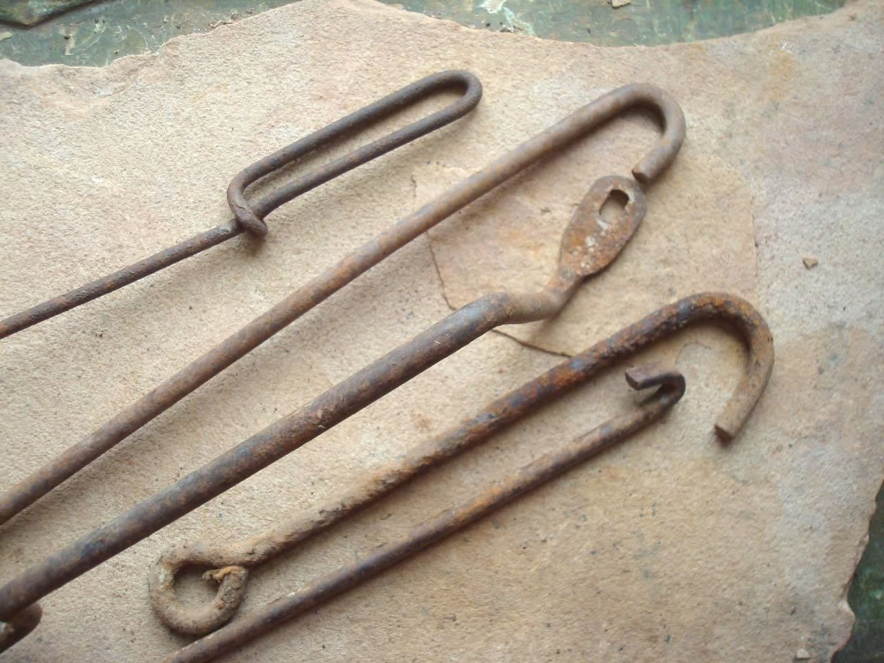 Rusty Metal Thick Wire Rods Hooks Handles Reclaimed Supplies for ...
