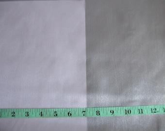 Silver Shimmer Satin  1 yard  (SM45)