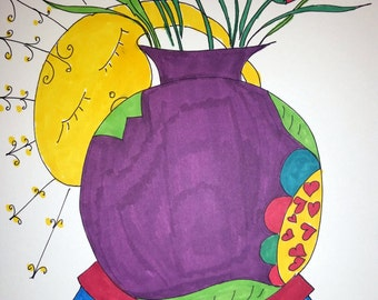 Sleepy the Glow Worm Loves Flowers~ PRINT