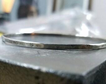 Hammered bangle