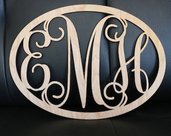 Large Metal Wood Monogram Sign | Wall Hanging  | Weddings | Photo Props | Painted | Nursery | Graduation Gift