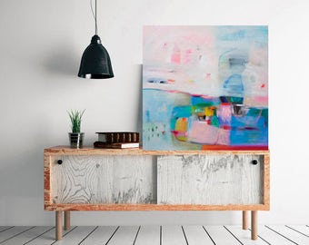 Pink Abstract painting, wall decor, home decor, wall art, Original acrylic painting, abstract art, original painting, wall decor, Painting