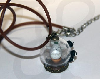 Globe pendant with Totoro on spin and Nadeem