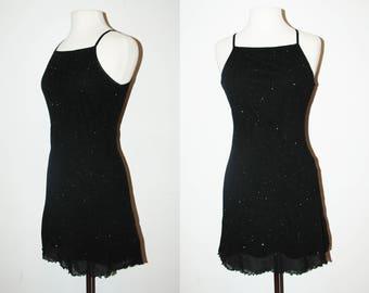 VINTAGE Glitter Dress / Size Medium
