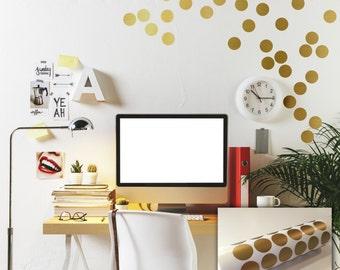Custom Modern Wallpaper Look Polka Dots 2.25 inches Decals Vinyl Stickers by Decomod Walls