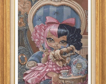 Annabelle PDF cross stitch only 25 count