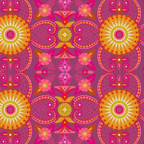 1/2 yd KRAKEN Urchin Pink Diving Board A-8635-E Alison Glass