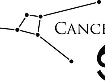 Cancer Constellation Vinyl Decal