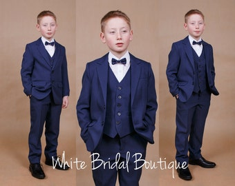 Wedding suit Ring bearer outfit Navy boy suit Formal boy suit Wedding boy outfit Toddler suit Communion suit Boy outfit Ring bearer suit