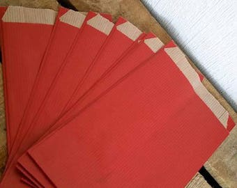 clutch bag gifts x 10 Red kraft bags