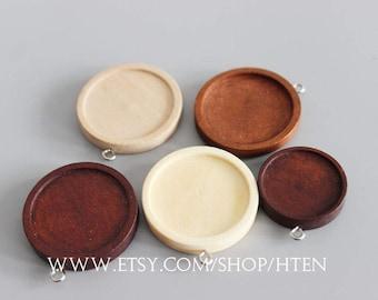 20pcs 12mm/15mm/20mm/25mm/30mm wood Pendant Blank Round Pendant Setting wood trays - wood pendant blank - wood pendant base - wood Bezel Cup