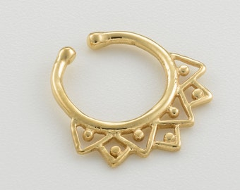 Fake Septum Ring. faux septum. septum cuff. fake septum piercing. fake septum jewelry. septum clip. gold septum ring. tribal septum.