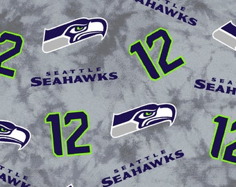 "Seattle Seahawks 100% cotton 58/60""  fabric by Fabric Traditions"