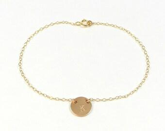 Tiny initial bracelet