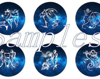 Zodiac Magnets Pins Party Favors Fridge Magnets Gift Sets Wedding Favors
