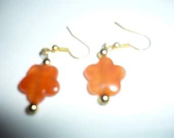 Earthy colour earrings