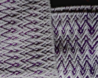 Purple and Beige Scarf
