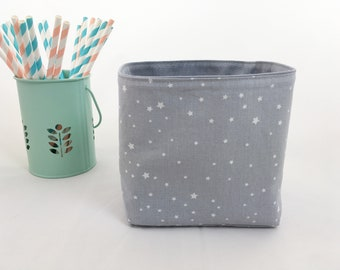 Storage basket grey star