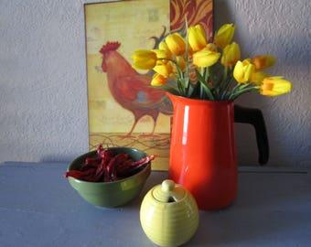 Enamelware Coffee Pot Orange