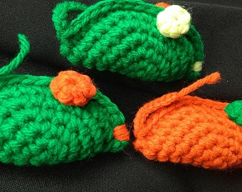 3 Blind Mice - orange and green catnip cat toys