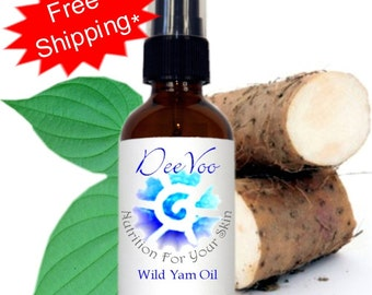Wild Yam Oil - 100% Vegan, Natural and Organic - Hormonal Treatment - International Shipping - PCOS