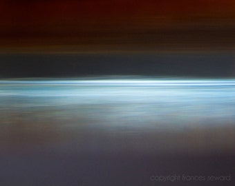Sea Ice.  Abstract Landscape Photo. Zen photo. Minimalist art. Giclee