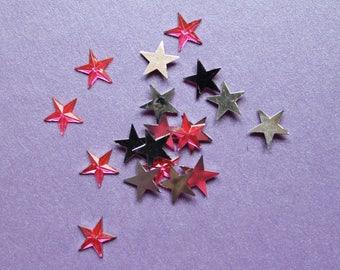 10 glitter rhinestone Diamond Pink star