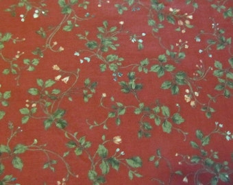 Free shipping! Cranston Home Fashions Print Wildflowers on Red. 1/2 Yard. 16037