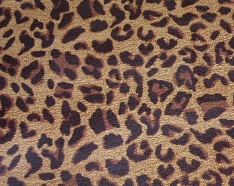 """OVERSTOCK Leather 2 pieces 5""""x11"""" BURNT UMBER Large Cheetah Print Grain Not Hair On Cowhide #632 2.5-2.75oz /1-1.1 mm PeggySueAlso™ E5000-03"""