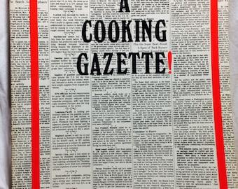 Vintage Cookbook, A Cooking Gazette, Rare Cookbooks, Gulf Coast Recipes, Houston food, Southern Cookbook, Southern Recipes