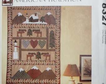 McCall's 8327 Christmas Stocking, Pillows, and Quilt or Wall Hanging Sewing Pattern New/Uncut