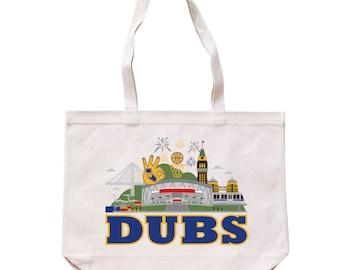 City Living Tote bag - Dubs - Warriors - California - Market bag - Reusable bag - Canvas tote - Shopping bag - Shoulder bag - Organic