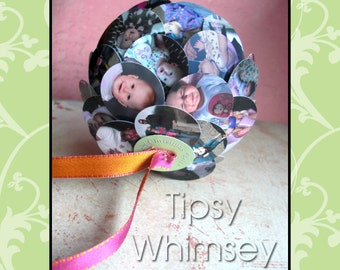Baby's First Year - Unique Photo Ornament - Custom made - full service photo editing - Holiday Birthday Graduation Christmas Vacation