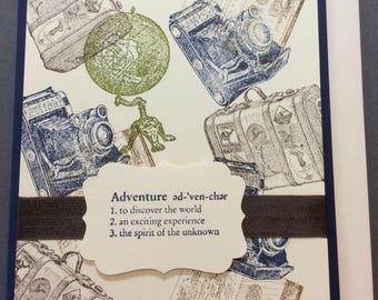 Adventure, retirement, card, stampin up
