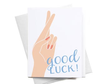 Greeting Card | Good Luck! | Crossed Fingers