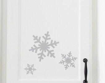 Snowflake Decals