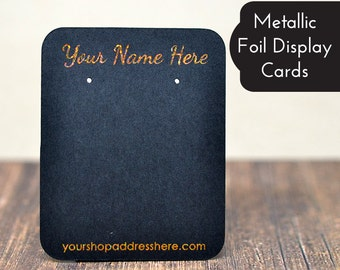 Metallic Foil - GOLD SILVER GLITTER - Custom Earring Display Cards - Necklace Cards - Bows - Barrettes - Jewelry Display Cards Price Tags