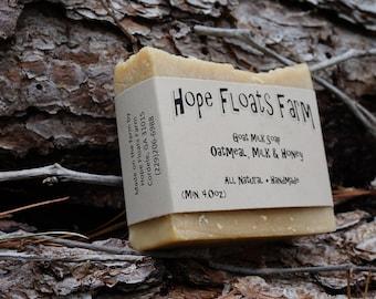 Oatmeal, Milk & Honey - GOAT MILK Soap - All Natural, Handmade
