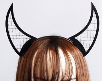 HORNy Headband, devil horns, horn headband, demon, devil, shedevil, horn hairband