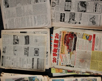 vintage magazine ad lot + comic book pages for artwork, collage decoupage