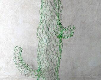 Cactus, wire sculpture, Cactus, mesh sculpture