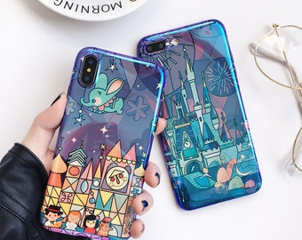 Disney Inspired Cinderella Sleeping Beauty Castle Small World iPhone Case Free Worldwide Shipping
