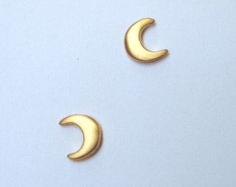 Crescent Moon Stud Earrings sterling silver Crescent Moon Studs Every Day Earrings gold plated Small Bridal Earring Bridesmaid gift mom