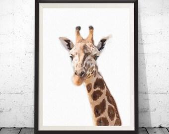 Giraffe Print, Giraffe photo, Giraffe Wall Art, Kids Room Decor, Nursery Animal Print,Safari Nursery Art,Nursery Printable,Modern baby room