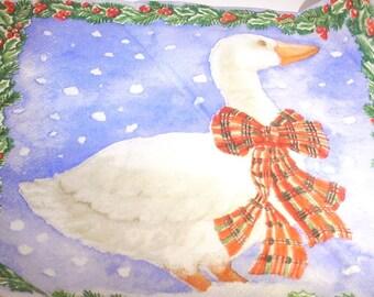 Christmas goose paper TOWEL
