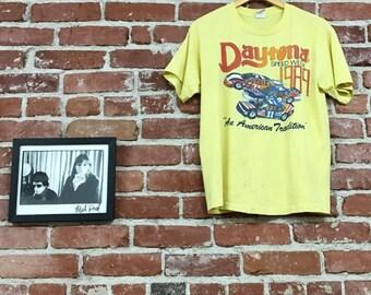 Vintage Daytona Speed Week Racing Tee T-Shirt. Men's Size Large