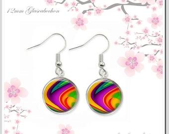 Earring Earrings Rainbow Color Ear-F12-002