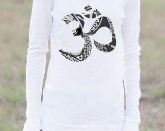 OM HOODIE - Om Shirt - Yoga Shirt - Yoga Long Sleeve - Yoga Clothing - Yoga Top - Yoga Tops - Yoga Apparel - Arima Designs