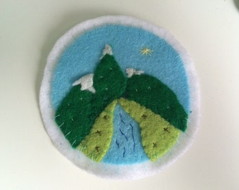 Hand Made Outdoors Mountain Patch